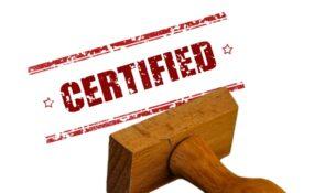 Zertifizierung Stempel